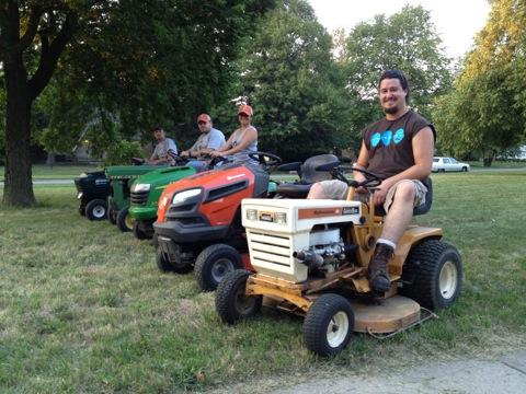 Detriot Mower Gang volunteers.