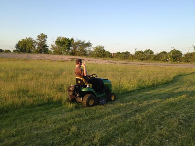 Mower Gang member in action.
