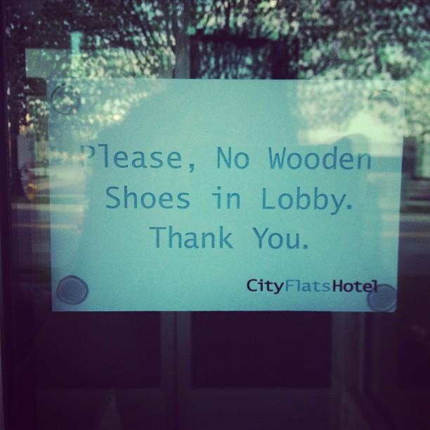A first-world problem in Holland. This year, Gov. Rick Snyder signed wooden shoes.
