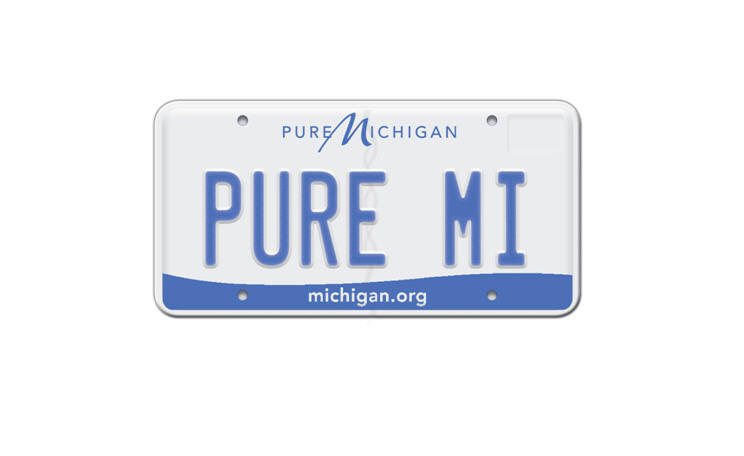 Michigan's new 'Pure Michigan' plate.