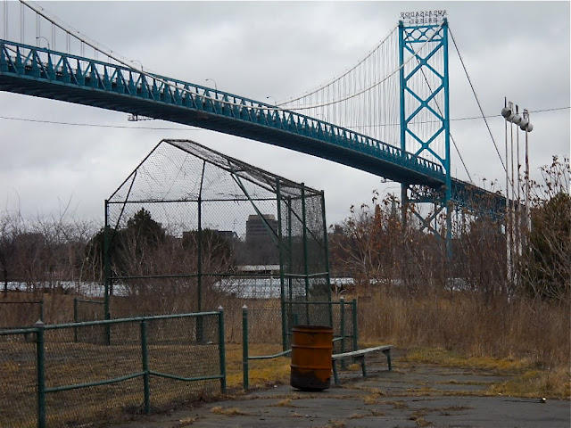 Riverside Park site in Detroit, next to the Ambassador Bridge.