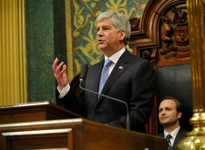 Michigan Gov. Rick Snyder delivering the 2011 State of the State address