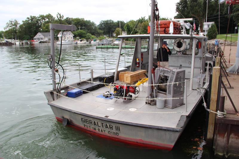 One of the research boats at the Stone Laboratory on Gibralter Island in Lake Erie.