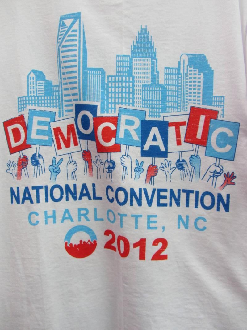 T-shirts at the Democratic National Convention in Charlotte, N.C.