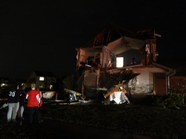 A tornado tore through Dexter and destroyed dozens of houses