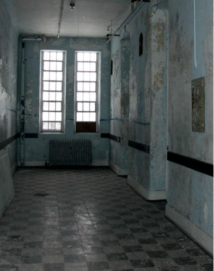 Another old hallway in the Traverse City State Hospital.