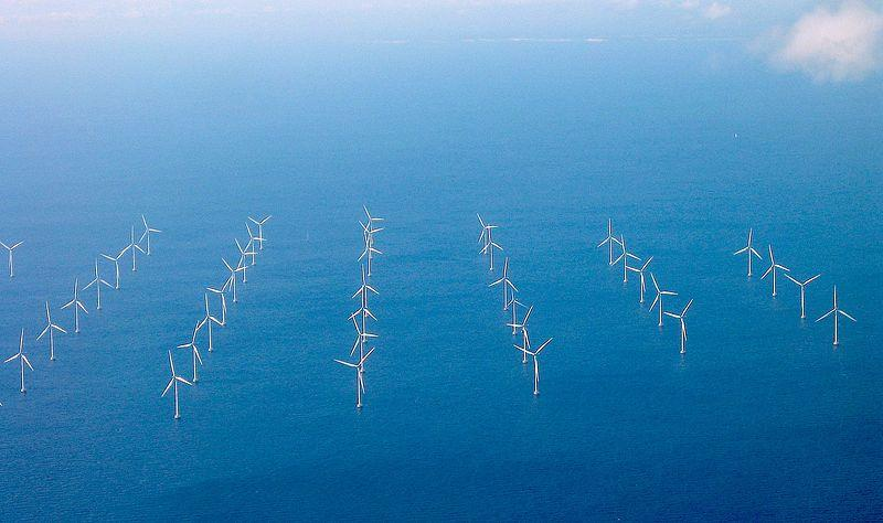 A wind farm off the coast of Sweden
