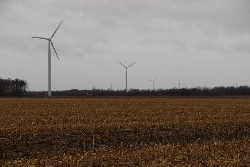 There are 133 1.6 megawatt wind turbines in the Gratiot County Wind Farm
