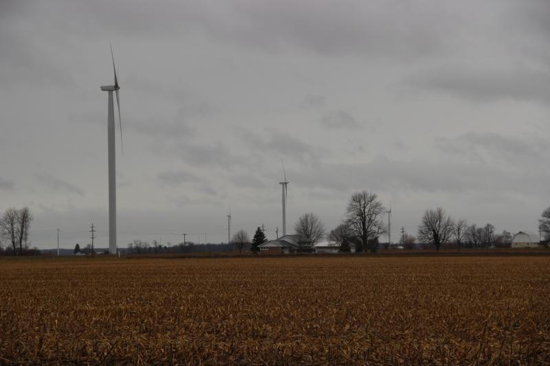 There are per acre payments and royalties from the power companies.