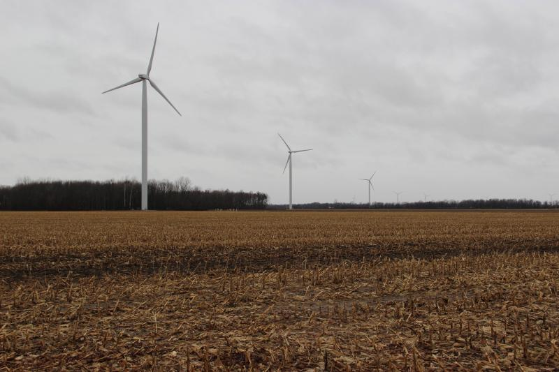 You're paid for turbines on your land, and for cables running underground.