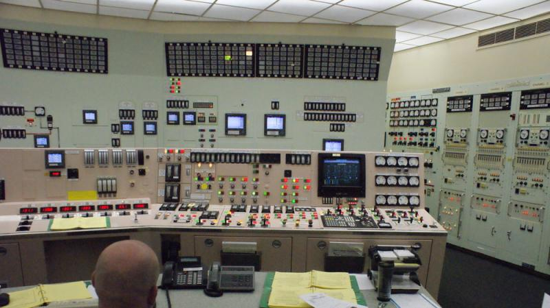 A supervisor oversees the control room operating crew. Operators are licensed by the Nuclear Regulatory Commission to operate the Palisades plant. It would take three years of training to get licensed to work a control room in a different nuclear plant.