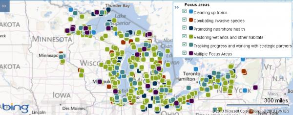 Great Lakes Restoration Initiative projects since 2010.