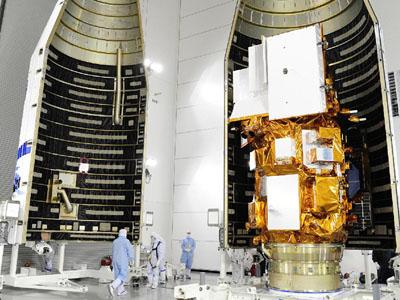 The Landsat 8 satellite is prepared for launch.