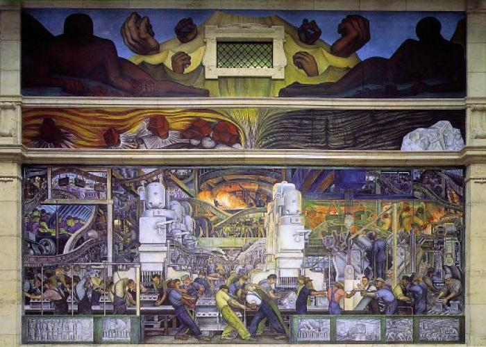 Sneak peek diego rivera and frida kahlo exhibition at the for Detroit rivera mural