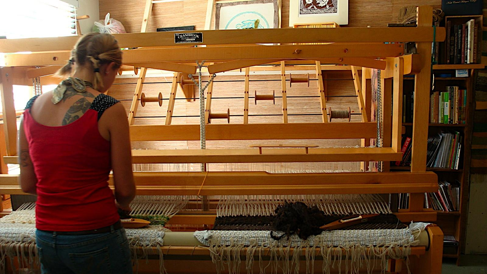 Petrie Learned How To Weave At The Nonprofit Cross Village Rug Works. She  Says Anyone Can Learn How To Weave If They Have Patience And Like To Work  With ...