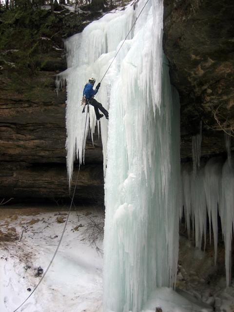 Climbing Melting Ice In The Upper Peninsula Michigan Radio
