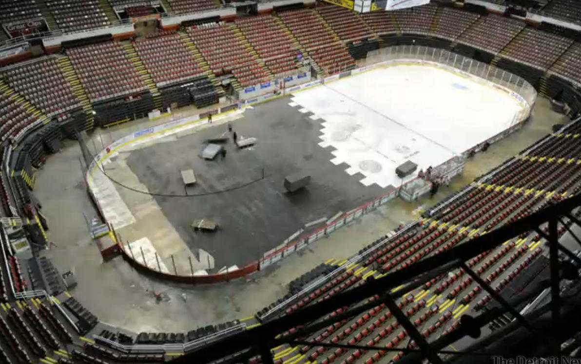 From Auto Show To Hockey Time Lapse At Joe Louis Arena