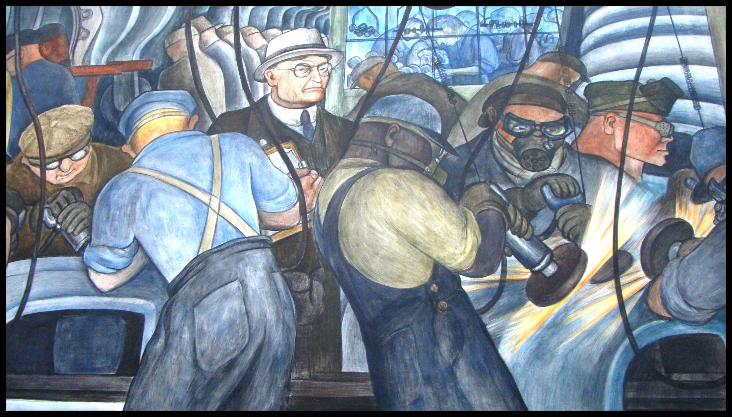 Diego Rivera S Painting In Detroit