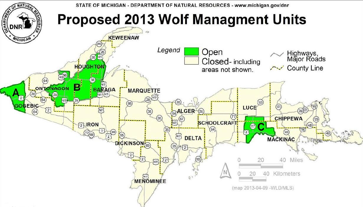 Strong demand for wolf hunting licenses in Michigan delays sale