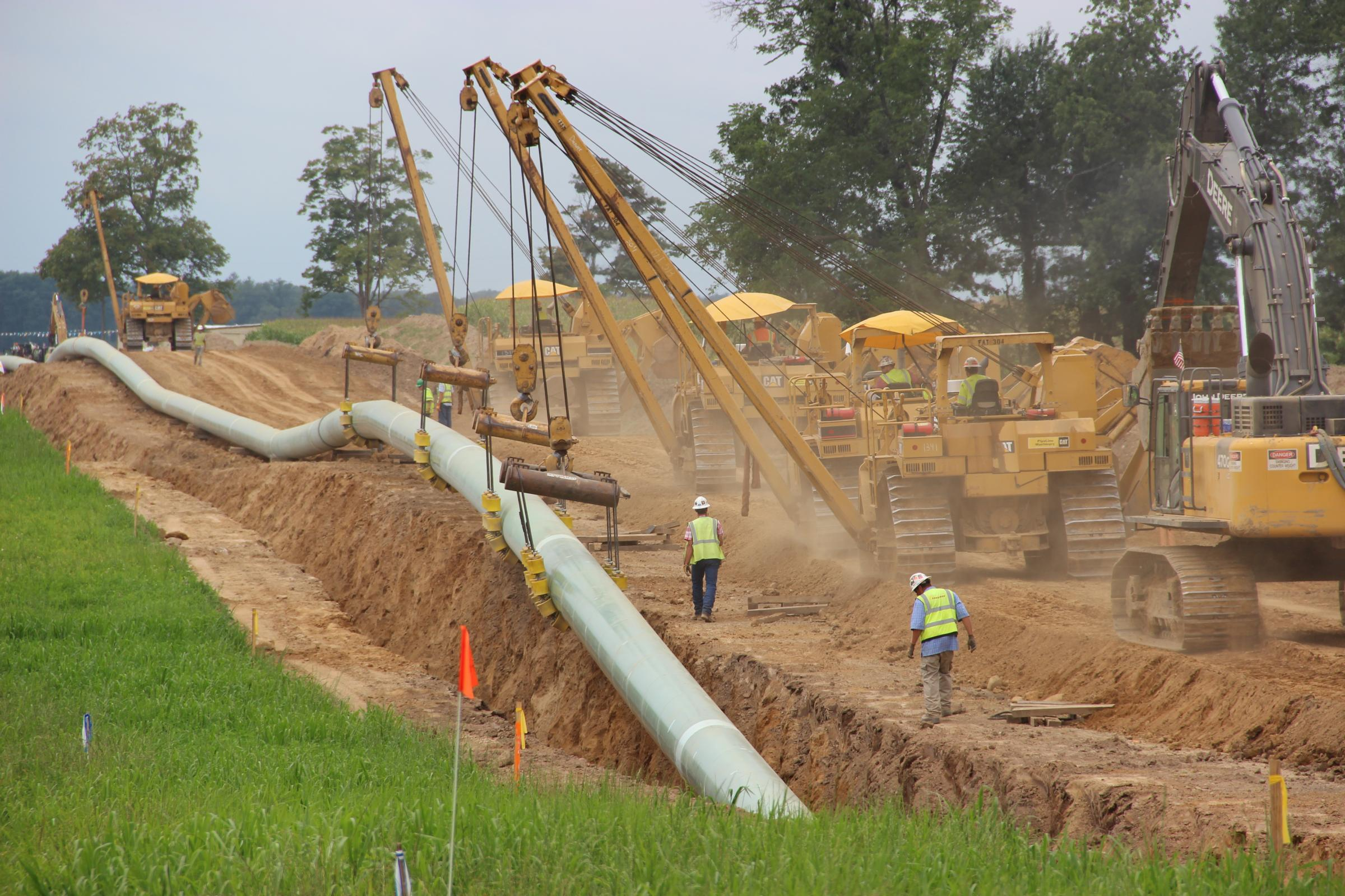 Miles of new oil pipeline being installed across