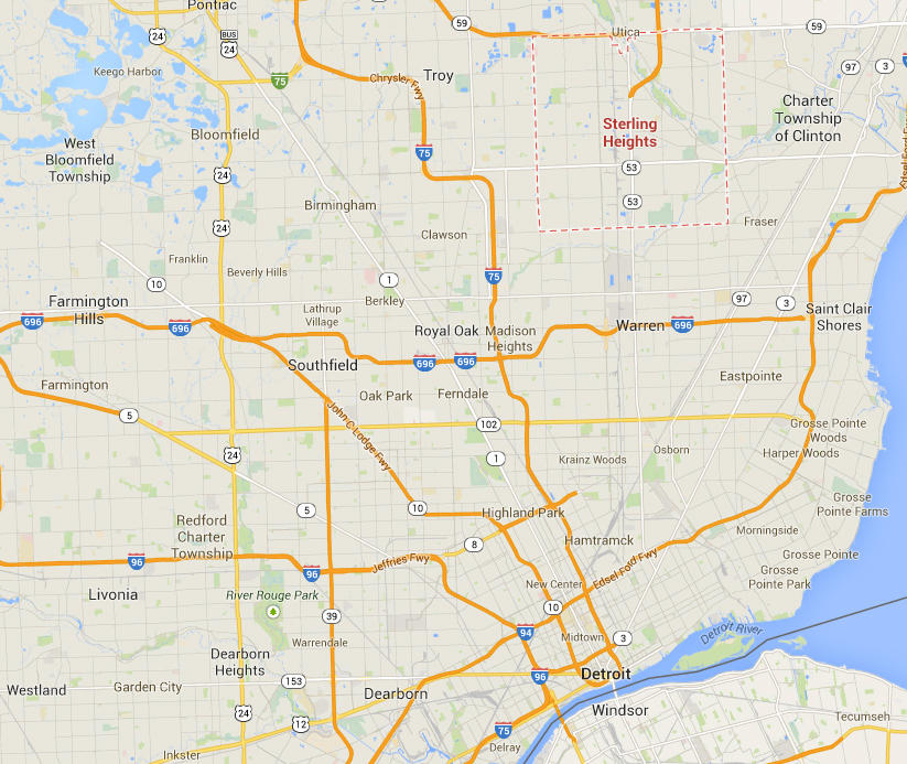 Sterling Heights Zip Code Map.What Explains Michigan S Large Arab American Community Michigan Radio