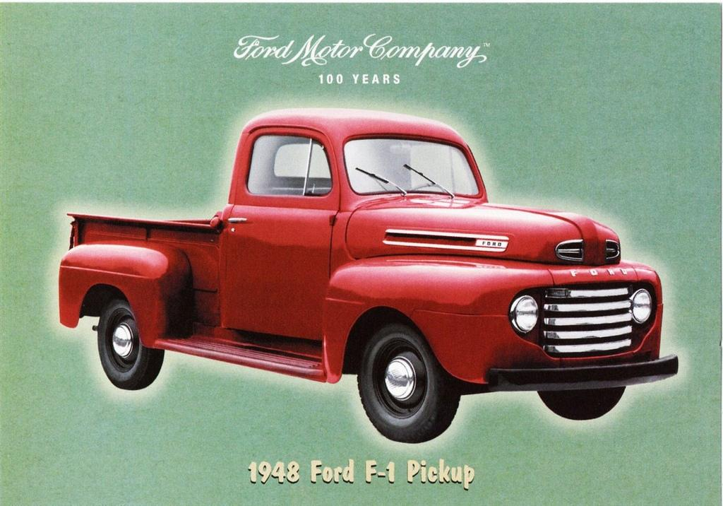 The First F Series Truck Made By Ford In 1948