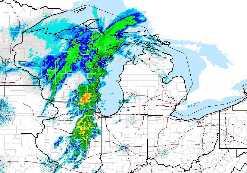 Snowstorm hits Michigan's Upper Peninsula, cold temps to ...