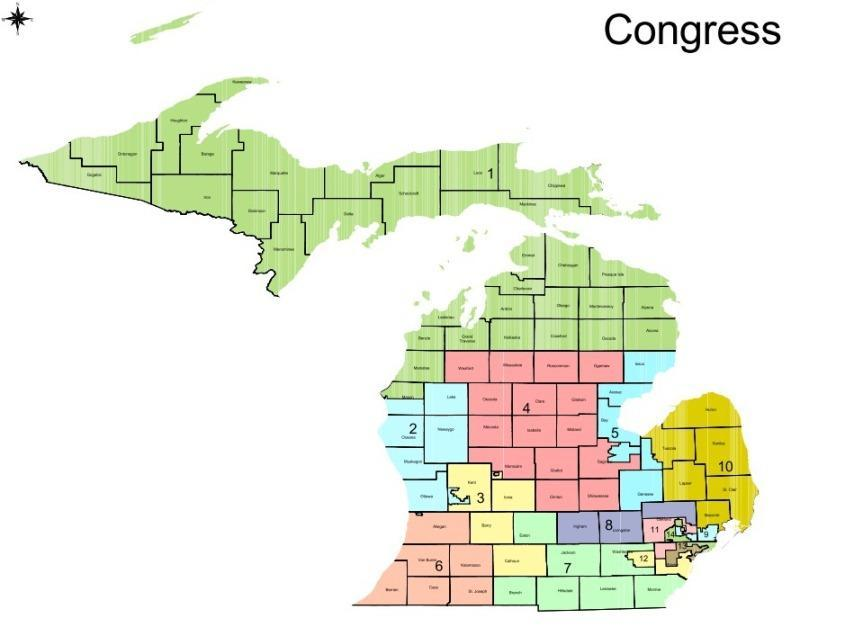 the current congressional districts were redrawn following results of the 2010 census