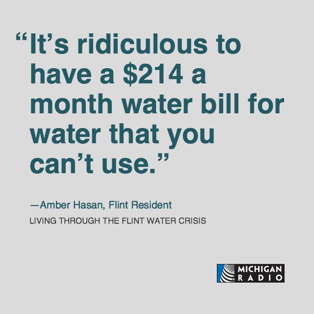 flint water quotes