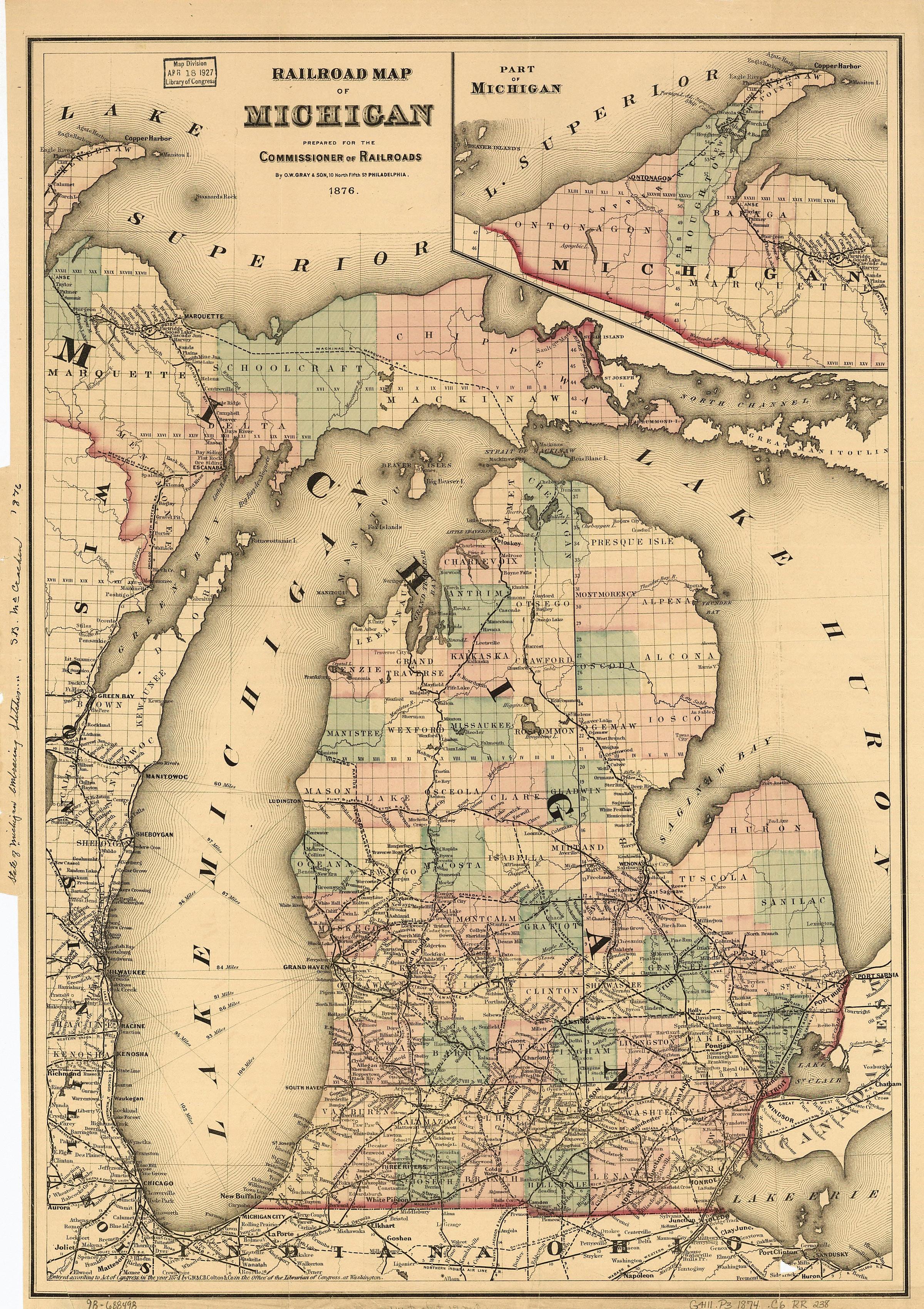 When did we start calling Michigan \