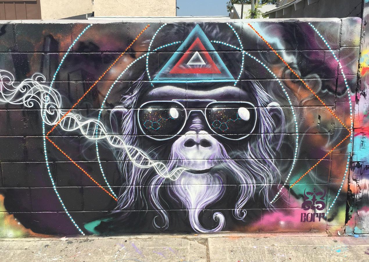 Mural by artist clinton bopp