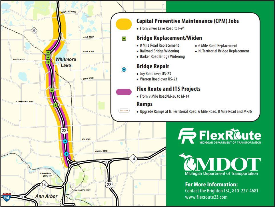 Mdot Has A Solution For Heavy Traffic On Us 23 Michigan Radio - Us-23-map