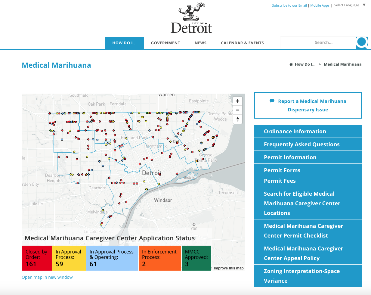 Grosse Point Michigan Map.Interactive Map Helps Medical Marijuana Patients Find Detroit