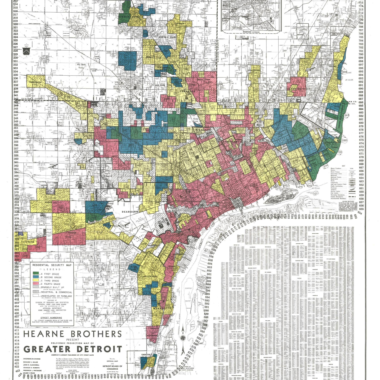 Data analysis Modernday redlining happening in Detroit and