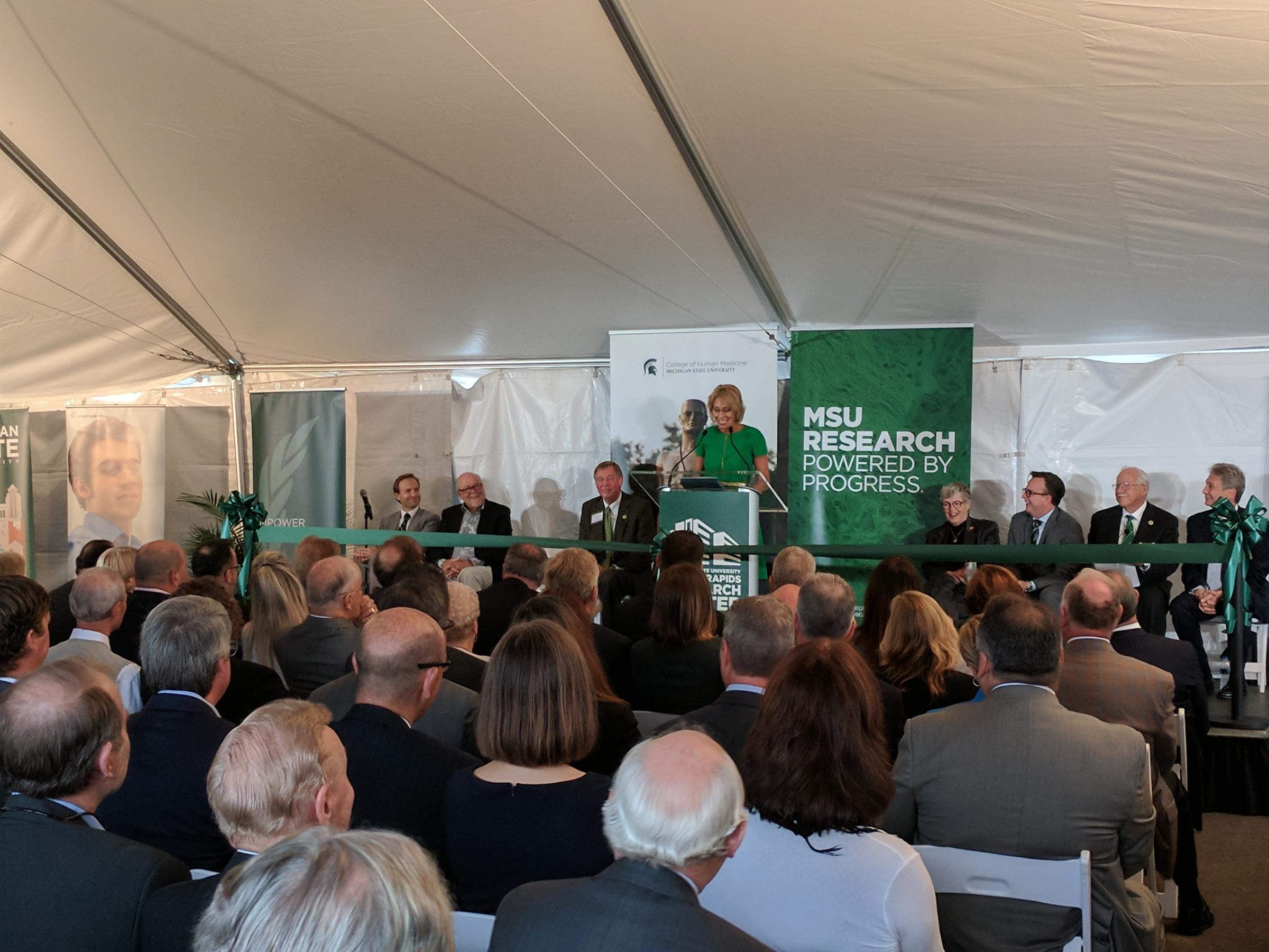 MSU dedicates Grand Rapids Research Center