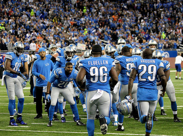 The Detroit Lions playing on Thanksgiving Day 2014