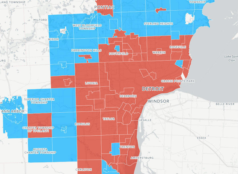 INTERACTIVE MAP More Than Half Of Cities With Lead Pipes On GLWA - Michigan cities map