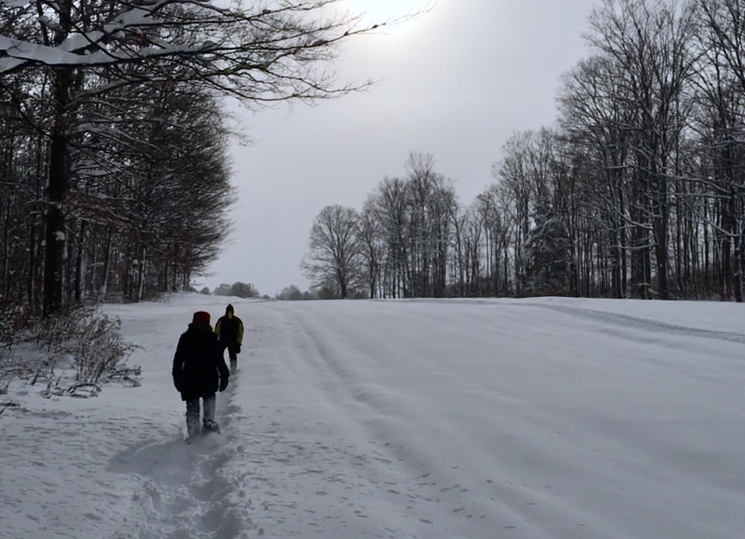 Massive Snowfall In Northern Michigan Meant Braving The Frigid Temperatures To Do A Bit Of Snowshoeing On New Years Eve