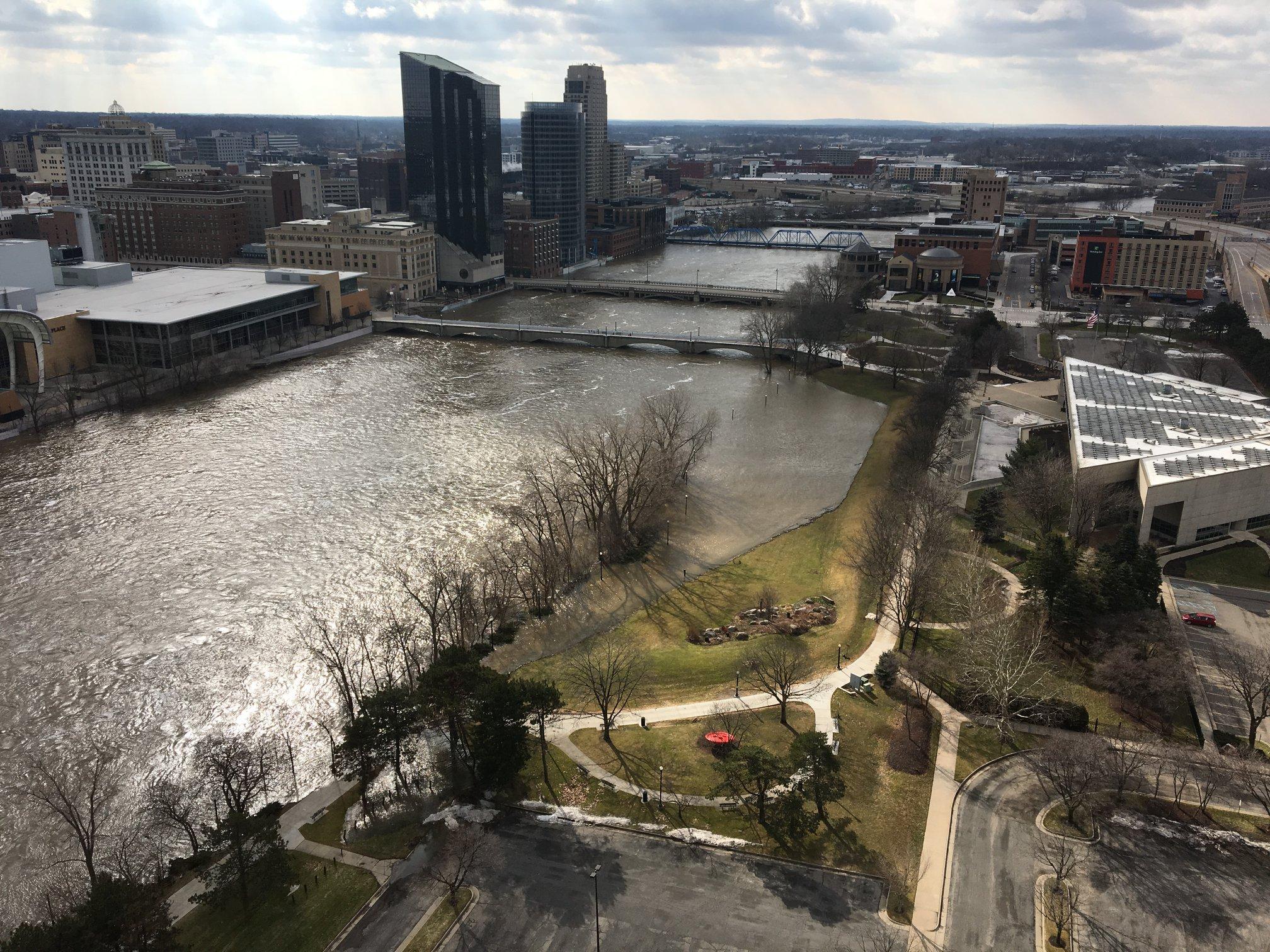 In Grand Rapids Grand River Nears 2013 Levels But City