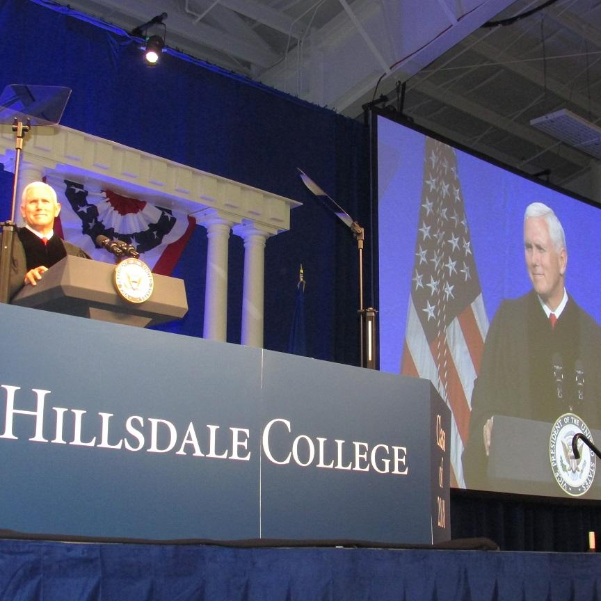 VP Mike Pence tells Hillsdale graduates 'faith in America is rising'