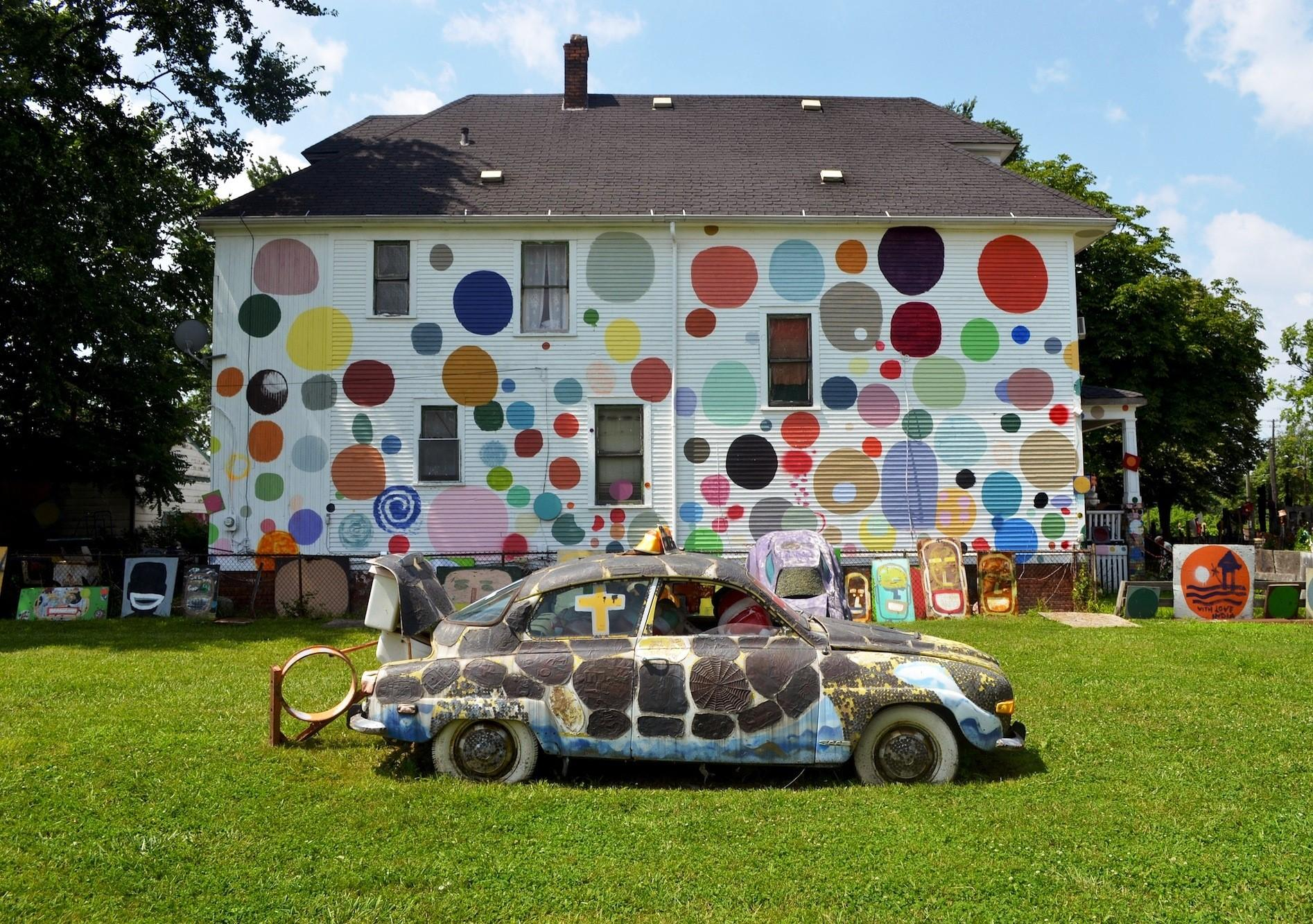 Detroit Art Week Features Works In A Variety Of Media Including The Dotty Wotty House Part Heidelberg Project