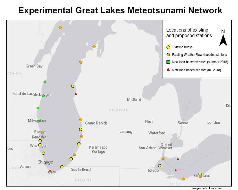 Scientists creating meteotsunami warning system for the Great Lakes ...