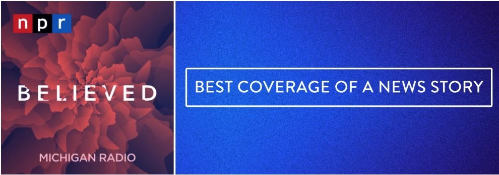 believed podcast named best coverage of a news story by the a v