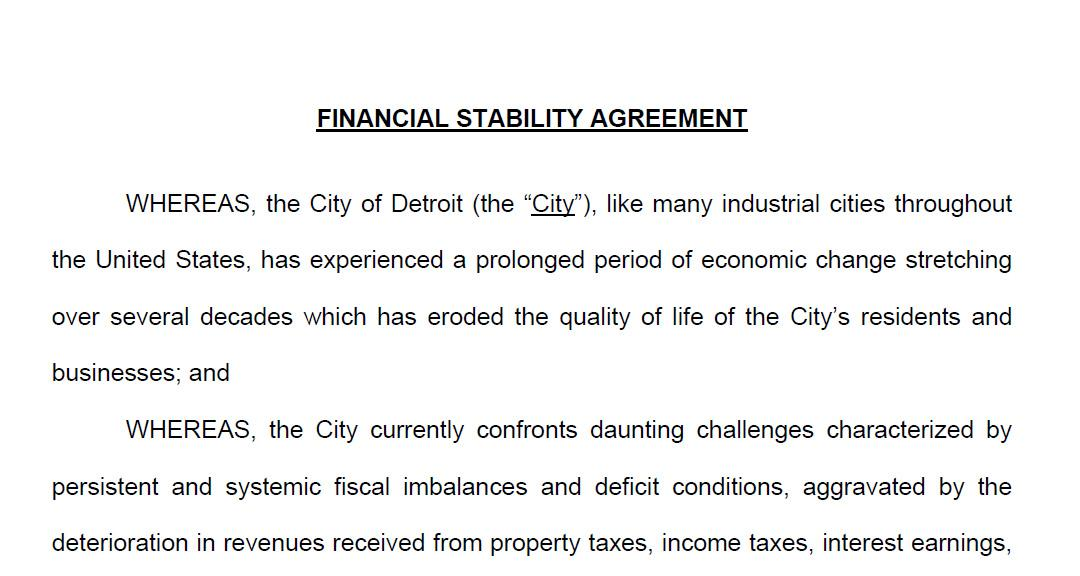 Read The Detroit Consent Agreement Michigan Gov Snyder To Hold