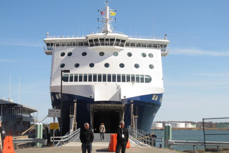 The Nova Star docked at the Ocean Gateway Terminal in Portland