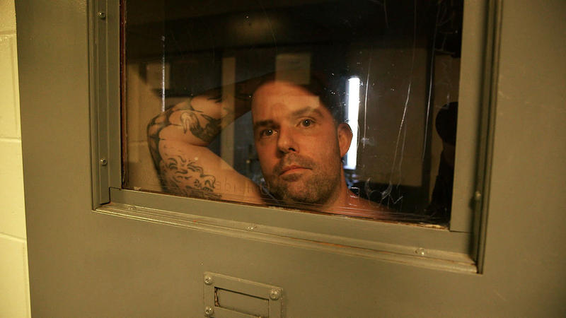 A prisoner in solitary confinement inside the Maine State Prison.