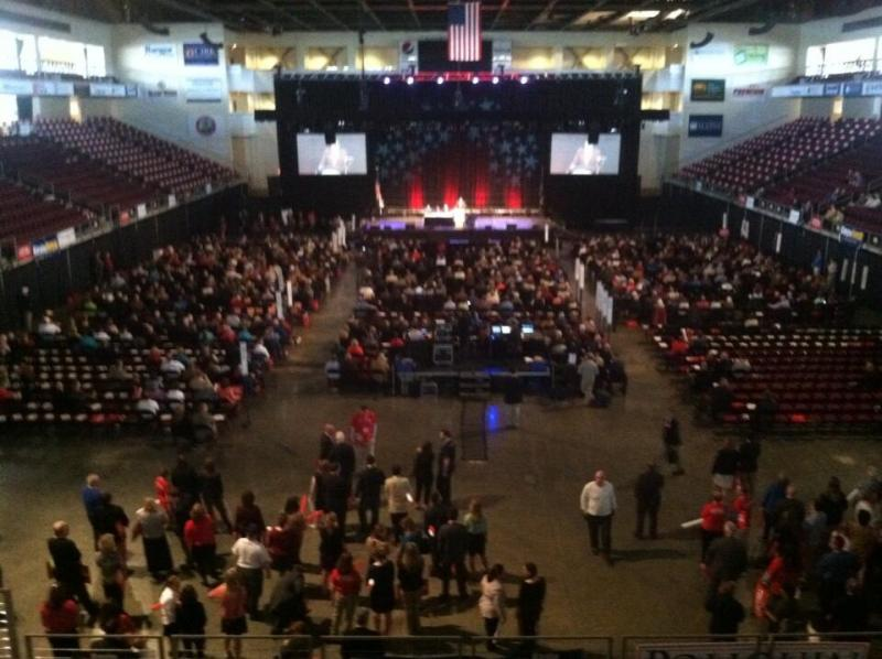 GOP Convention goers inside the Cross Insurance Center in Bangor on April 25, 2014.