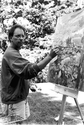 Jon Imber, a right-handed artist from Stonington, learned to paint with his left hand after contracting the disease ALS, which robs movement and cut Imber's life short on April 17 at the age of 63.