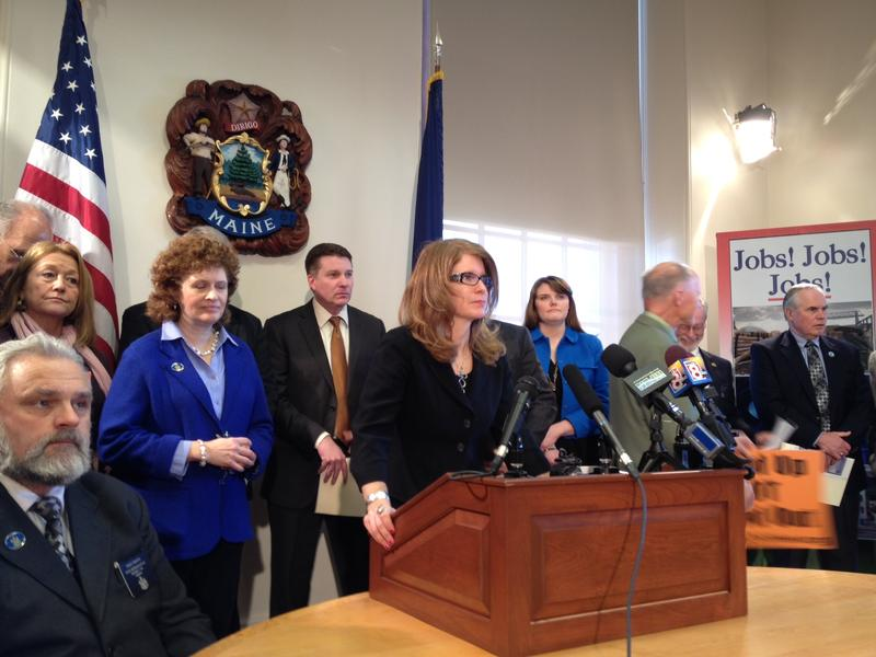Maine DHHS Commissioner Mary Mayhew at a State House event on February 26, 2014.
