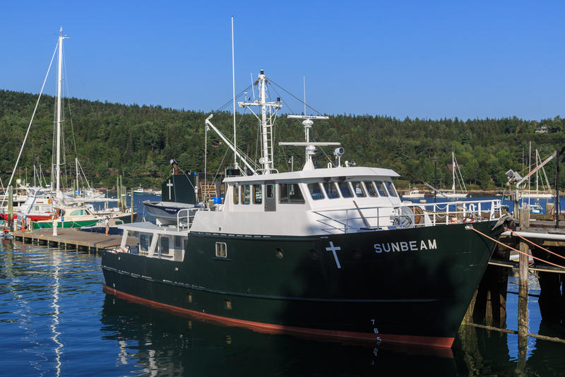 The Sunbeam at anchor in Northeast Harbor Sept. 5, 2014.
